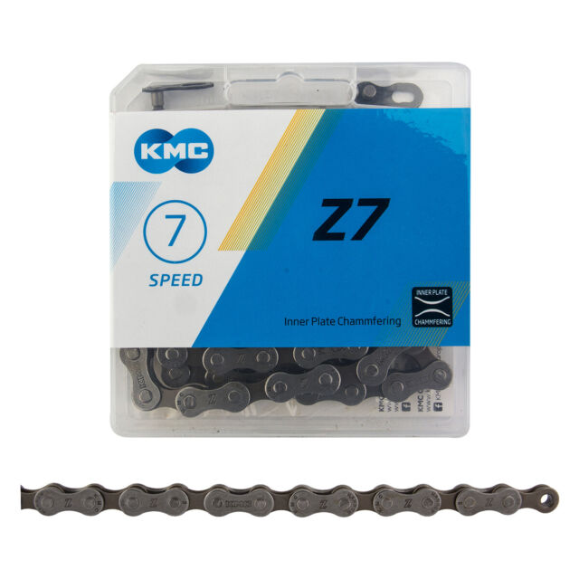 KMC 7 Speed Z7 Bicycle Chain Bike 116 Links Gray//brown for sale online