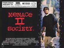 "MOVIE POSTER~~Menace II Society 1993 30x40"" British Quad Tyrin Turner NOS 2/II~~"