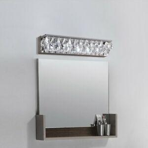 Modern Crystal Wall Light Led Bath Vanity Lighting Silver Metal Wall Sconce 110v Ebay