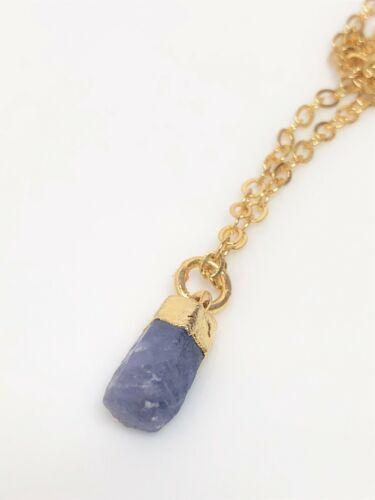 Raw Rubí Oro Lleno colgante joyas de piedra natural para mujeres en caja de regalo de cumpleaños