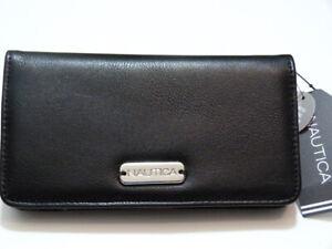 NWT* Nautica RFID Blocking Slim Gusset Clutch Wallet