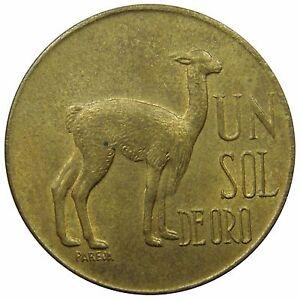 E90-Peru-1-Sol-de-Oro-1973-Lama-Vicuna-Xf-Unc-km-248