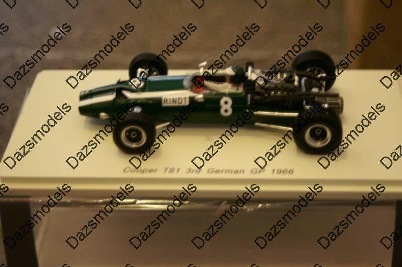 Spark Cooper T81 Alemán GP 1966 1 43 Resina S5291