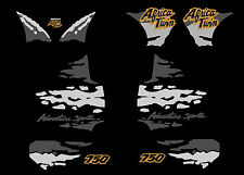 Africa twin 750 (1993-95 gris or) autocollant sticker decal aufkleber moto