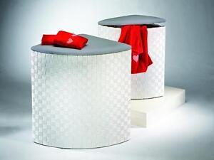 eck w schekorb mit polster wei grau w schetruhe w schesammler w schebox ebay. Black Bedroom Furniture Sets. Home Design Ideas