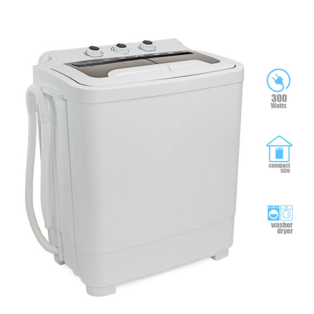 Portable Compact Washer and Spin Dry Cycle with Built in Pump 300W Apartment