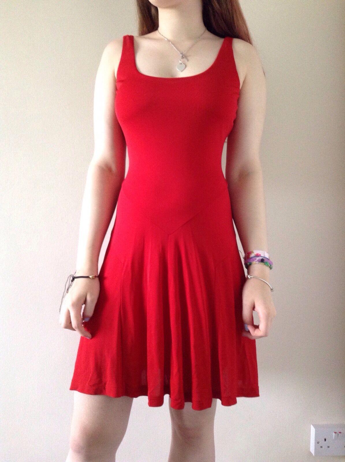 Mujer Polo Ralph Lauren Rojo Viscosa Vestido  Talla S Nuevo PVP  calidad de primera clase