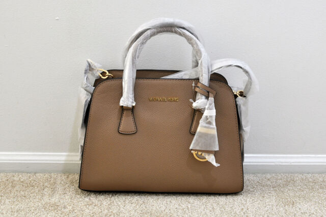 77f258b087c8 Michael Kors Dark Khaki Leather Harper Medium Satchel Bag for sale ...