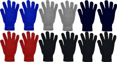 12 Pairs Stretchy Warm Knit Bulk Pack Mens Womens Wholesal Details about  /Winter Magic Gloves