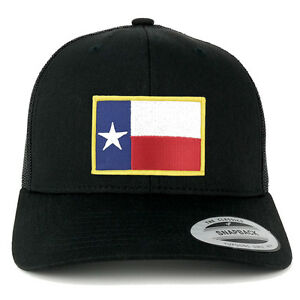 Image is loading FLEXFIT-Texas-Flag-Embroidered-Iron-On-Patch-Snapback- 4ae928a6ce2
