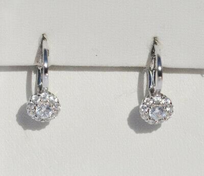 Echt 925 Sterling Silber Ohrringe  Rund Kreise  Hochzeit Nr 317