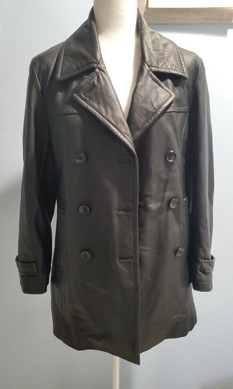 Barneys New York Women's Genuine Leather Jacket Size X-Small