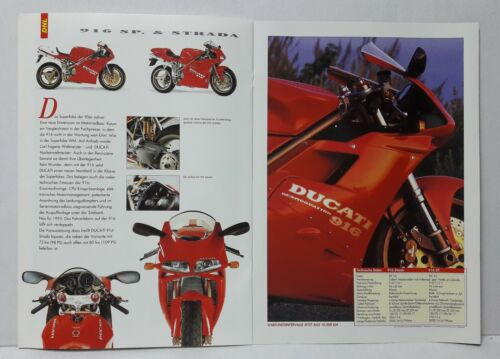 DUCATI 916 PROSPEKT 1995 brochure -16 pagine mostri Supersport 748
