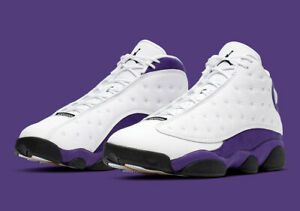 the best attitude 71ce3 7ea99 Details about NIKE Air Jordan Retro 13 XIII Lakers White Purple PS TD Baby  Kid Women Sz 1C-7Y