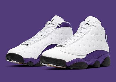 NIKE Air Jordan Retro 13 XIII Lakers White Purple PS TD Baby Kid Women Sz 1C 7Y | eBay