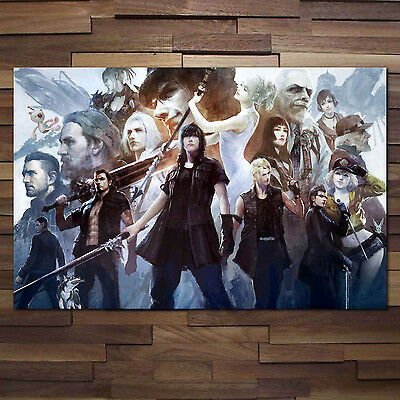 All Characters Collage Art High Quality Prints Final Fantasy XV Poster