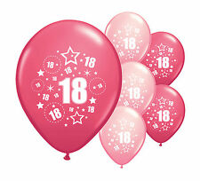 """10 x 18TH BIRTHDAY PINK MIX 12"""" HELIUM OR AIRFILL BALLOONS (PA)"""