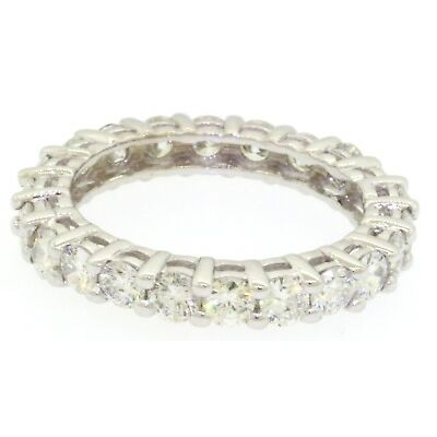 18K white gold elegant high fashion 2.06CT diamond eternity band ring size 6