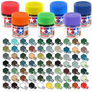 10ml-TAMIYA-ACRYLIC-PAINTS-FLAT-MATT-COLOURS-XF-1-to-XF-91-amp-THINNER