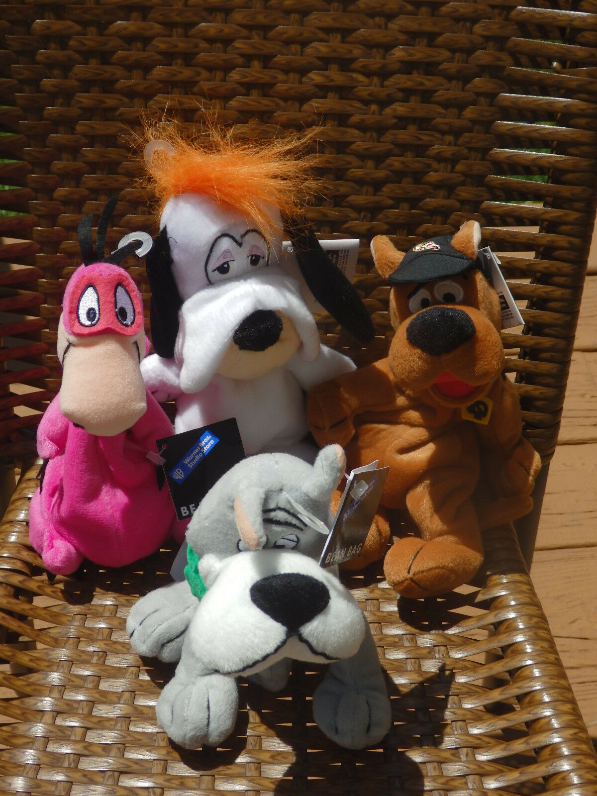 Warner Bredhers Bean Bag Plush Scooby Doo Dino Droopy Astro With Tags, 1998 NM