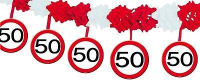 1 Girlande Verkehrsschild 50 Geburtstag Deko Tischdeko Party Schild Jubiläum