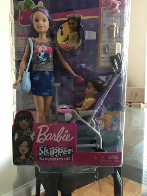 Barbie (FJB00) Skipper Babysitters Inc. Doll and Stroller ...