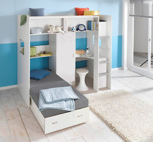 Image Is Loading Rutland Cabin High Sleeper Bed With Pullout