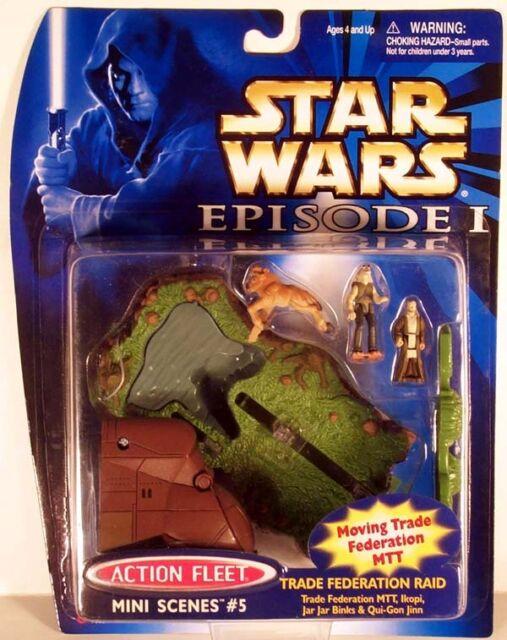 Star Wars Action Fleet Mini Scenes #5 TRADE FEDERATION RAID MOC EPISODE 1 I