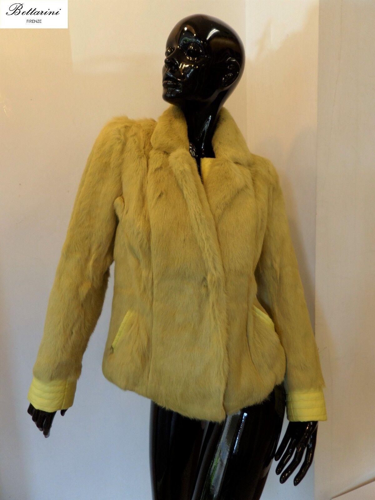 Piumino con PELLICCIA in lapin VOLPE giacca rabbit fox  fur down fourrure renard  tienda hace compras y ventas