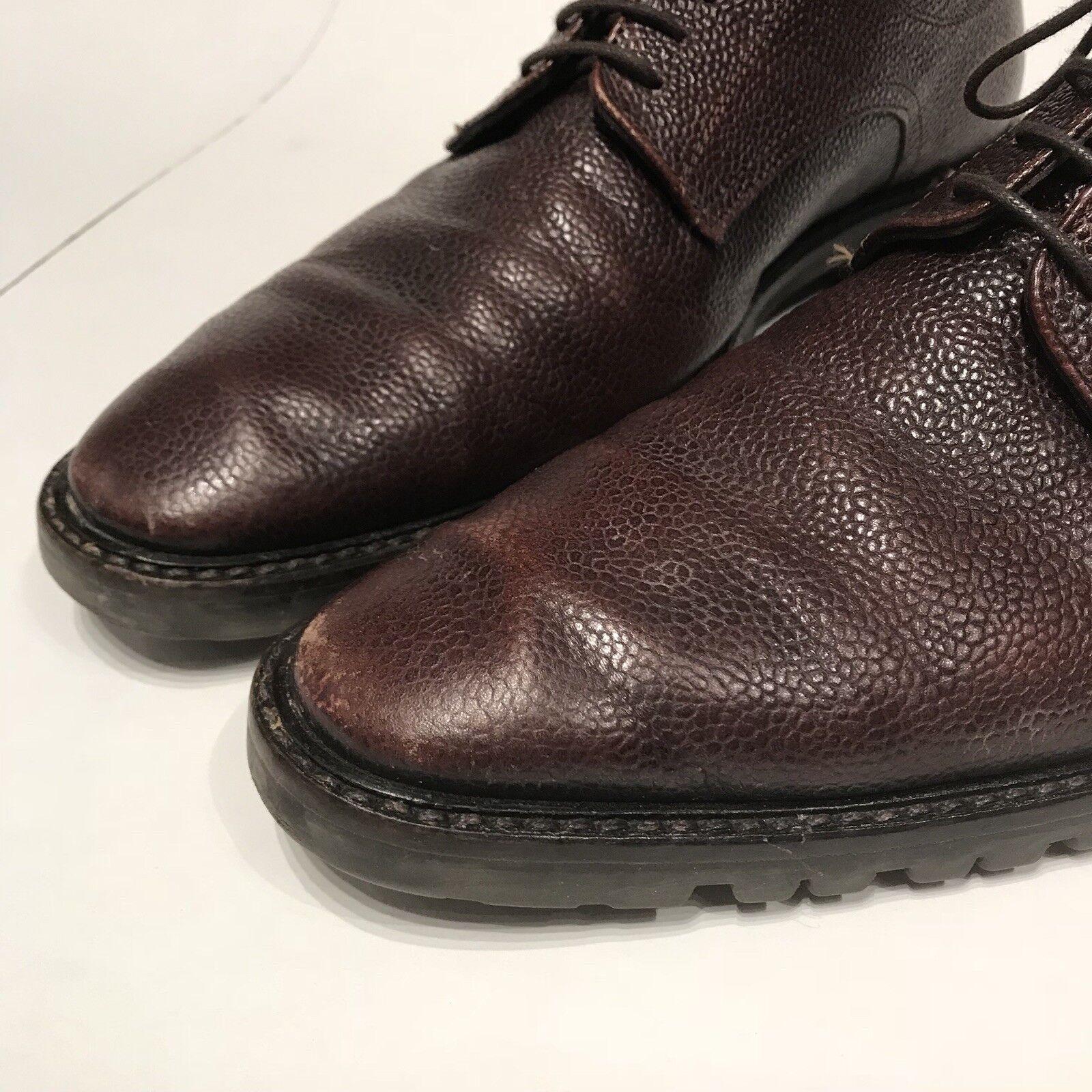 TO Stiefel NEW YORK ADAM DERRICK braun braun braun Leather Lace Up Lug Sole Oxford  US 9.5 61dbda