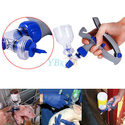 5ml Pet Poultry Livestock Injector Automatic Self Refill Re-usable Syringe LJ