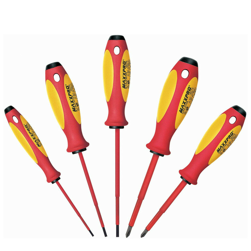 Knipex 9T 653739 1,000V Chrome MAXXPRO Insulated Screwdriver Set - 5pc