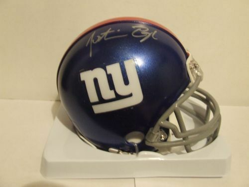 Justin Pugh Signed Autographed Mini Helmet w//COA  NFL NY Giants 1st Round Pick