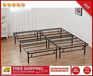 Platform Cal King Bed Frame 14 Inch Mattress Foundation Heavy Duty