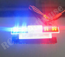 RC Police Light Bar Rotating Red and Blue LEDs, Super Bright Universal Mount Sq