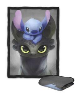 Stitch And Toothless Dragon Original Blanket Kids Medium Large Ebay