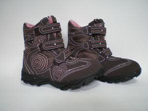 Kinder Mädchen Tex Winter Stiefel Boots Schuhe SLAM TEX Gr. 41 Braun Pink Neu