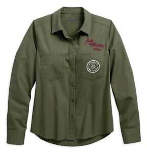 Genuine Harley Davidson Femme//Women/'s Gris Jersey Appliqué T-shirt 99050-18VW