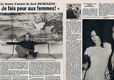 Coupure de presse Clipping 1981 Jack Nicholson  (4 pages)