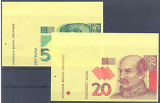 Croatia paper money bills test printing 1993 UNCIRCULATED