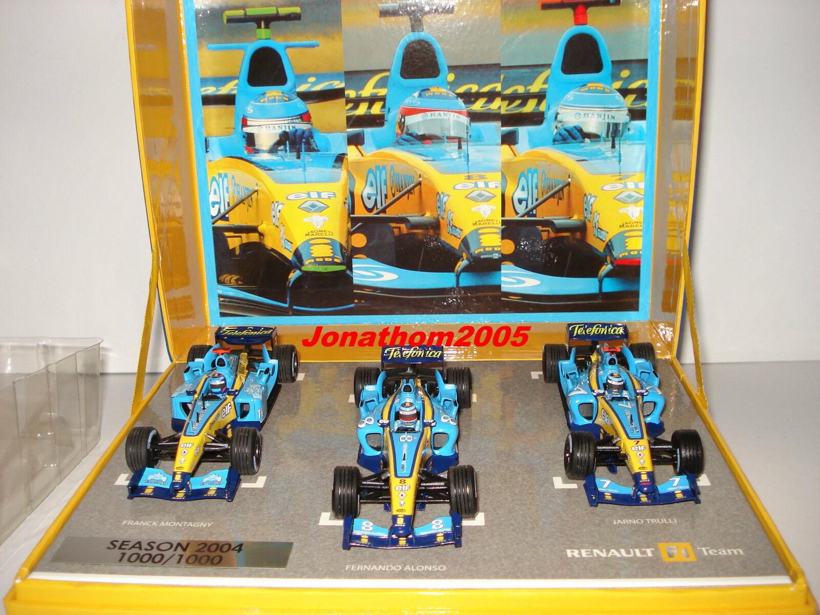 COFFRET NOREV RENAULT F1 TEAM 2004 N° 1000 1000 - 3 F1    ALONSO MONTAGNY TRULLI