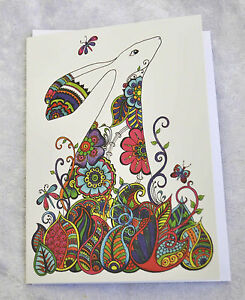 Henna hare greetings birthday card drawn and printed in the uk image is loading henna hare greetings birthday card drawn and printed m4hsunfo
