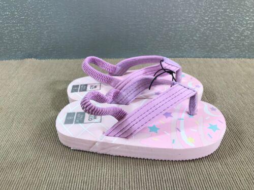 BNWT Little Girl Sz 6 Purple icecream Beachwear Thongs Flip Flops Sandals