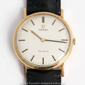 OMEGA-Manual-9ct-Gold-1972-Calibre-601-Gents-Mans-Wrist-Watch-Caliber-Vintage