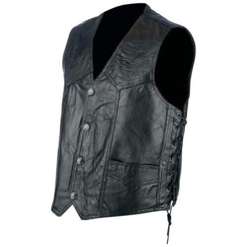 jacket en cuir gilet cuir patchwork homme ou femme Grande taille  M à 3XL