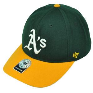 47 Brand Forty Seven Oakland Athletics Green Yellow Green Hat Cap ... 56066e17d86e