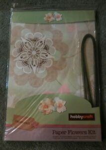 Details About Hobbycraft Paper Flowers Kit Florist Wire Brand New Green Floral Selection