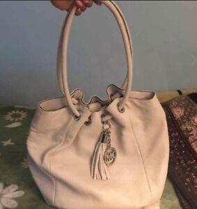 6724cf11593d MICHAEL KORS RING TOTE LEATHER HAND BAG SHOULDER PURSE TASSEL | eBay