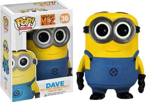Yellow Minion Dave Pop Funko Vinyl Figure Despicable Me 2 NEW In Box