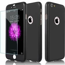 "360 All Round Case/Cover Apple iPhone 7 (4.7"") / Glass Screen Protector / Black"
